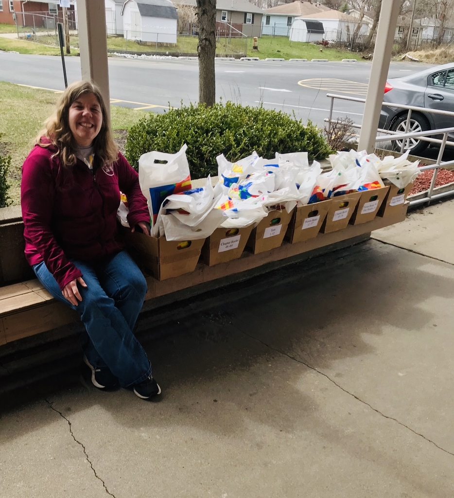 "Julie Bradford, our local Lake Station/New Chicago librarian with the donated ""need a read"" bags."
